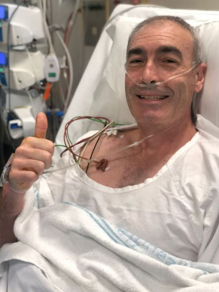 Greg Page is recovering in hospital after his cardiac arrest.