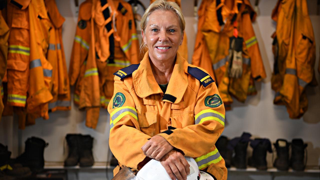 Mette Davis is a firefighter based at the Doonan Rural Fire Brigade Station. PHOTO: Warren Lynam