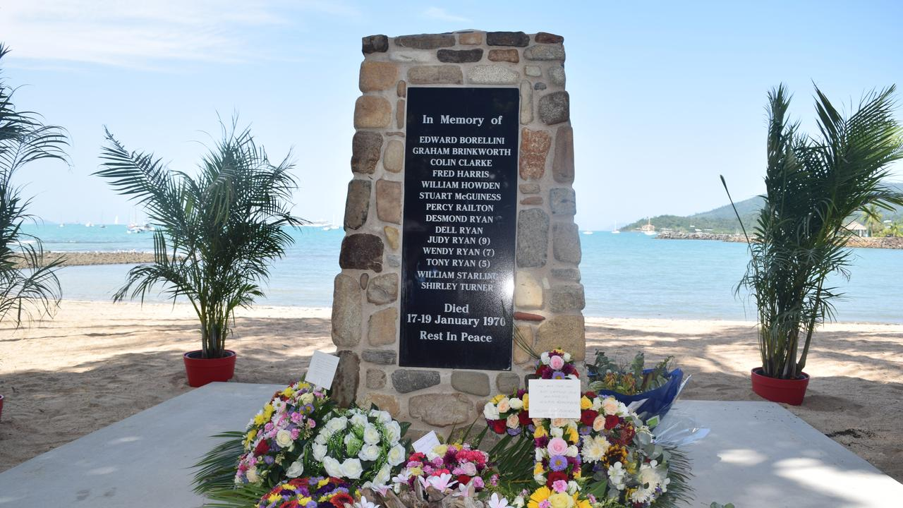 The Cyclone Ada Memorial, on the Airlie Foreshore, which was unveiled as part of the Cyclone Ada Memorial Service, on Saturday.