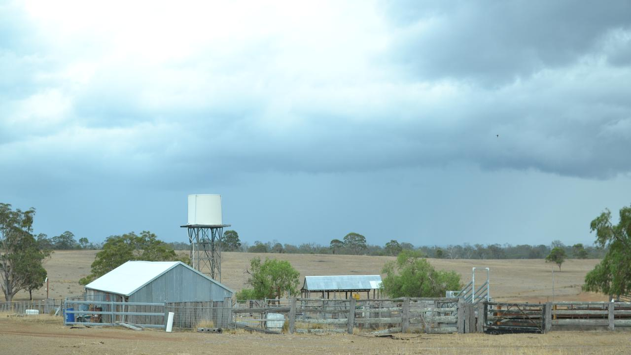 WELCOME RELIEF: The storm approaches this farm at Wildash on the Southern Downs yesterday afternoon.