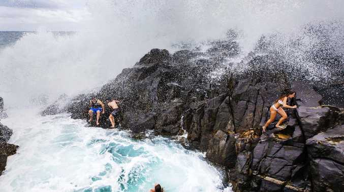 Swimming hole nightmare as wild waves wreak havoc