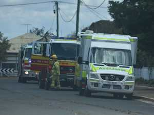 Emergency services called after TV catches fire