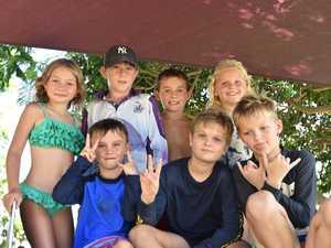 Scarlett Breslin, 7, Kaiden Turner, 6, Isaac Turner