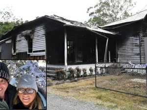'Dinner saved us:' Couple dodge death as historic home burns