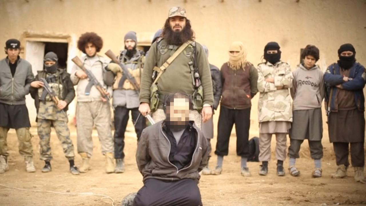 Harvest of Apostates video showing what is believed to be Aussie Khaled Sharrouf executing a prisoner. Picture: Supplied