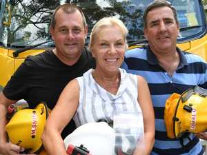 Flamin' treat for fireys after terrifying ordeal