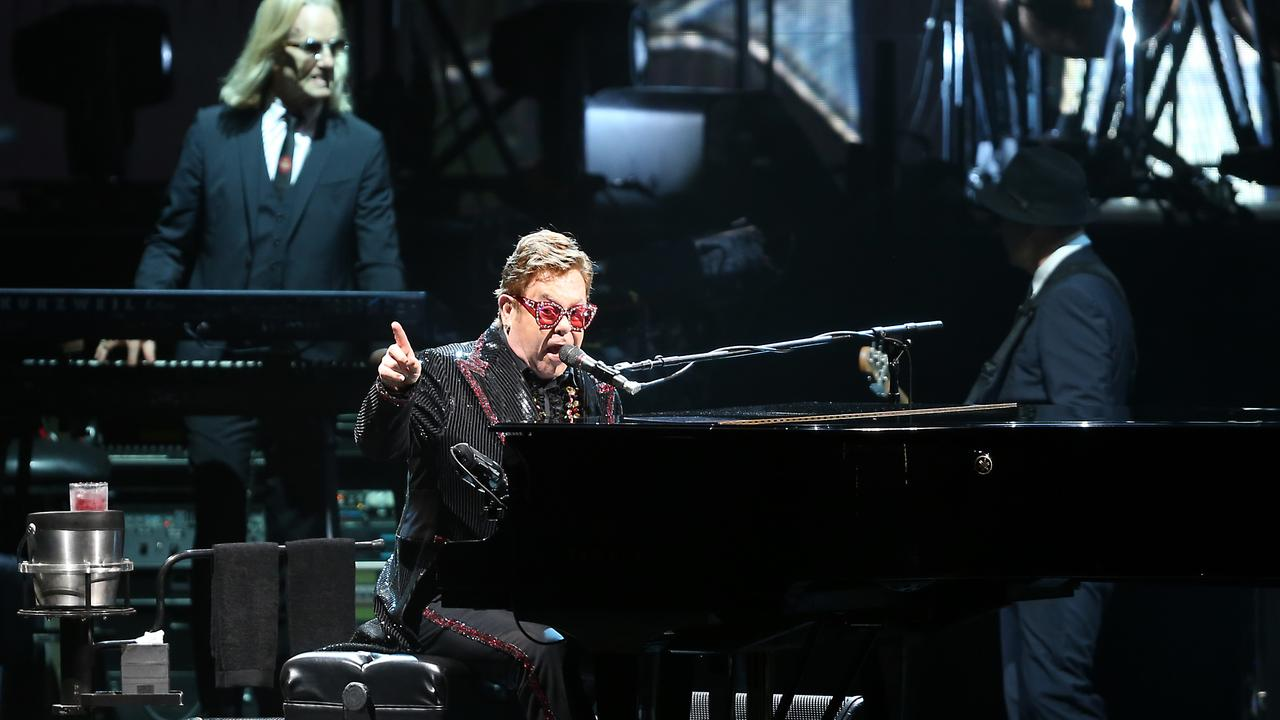 Elton John playing A Day on the Green at Sirromet Wines. Picture: AAP Image/Richard Gosling