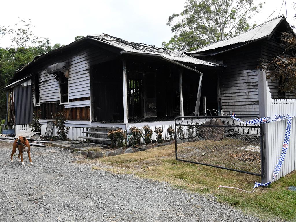 Fire has destroyed a home in Landsborough.
