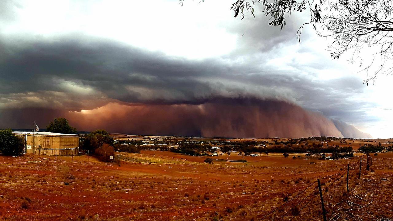 A massive dust storm rolls into Canowindra, near Orange, in NSW. Picture: Jamie Anderson