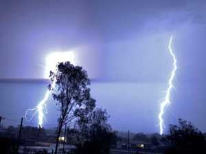 Young woman struck by lightning