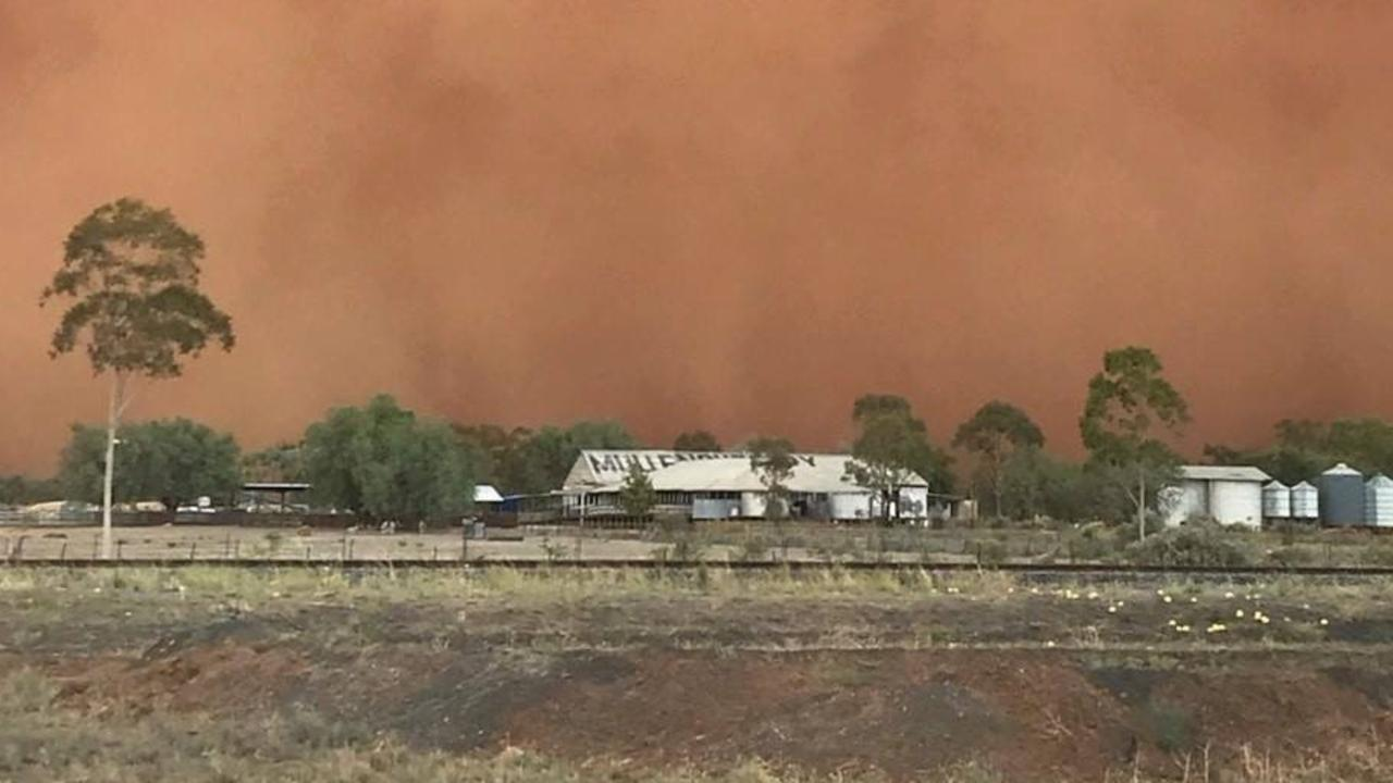 Marcia Macmillan says dust storms hit Mullengudgery every couple of days. Picture: Marcia Macmillan