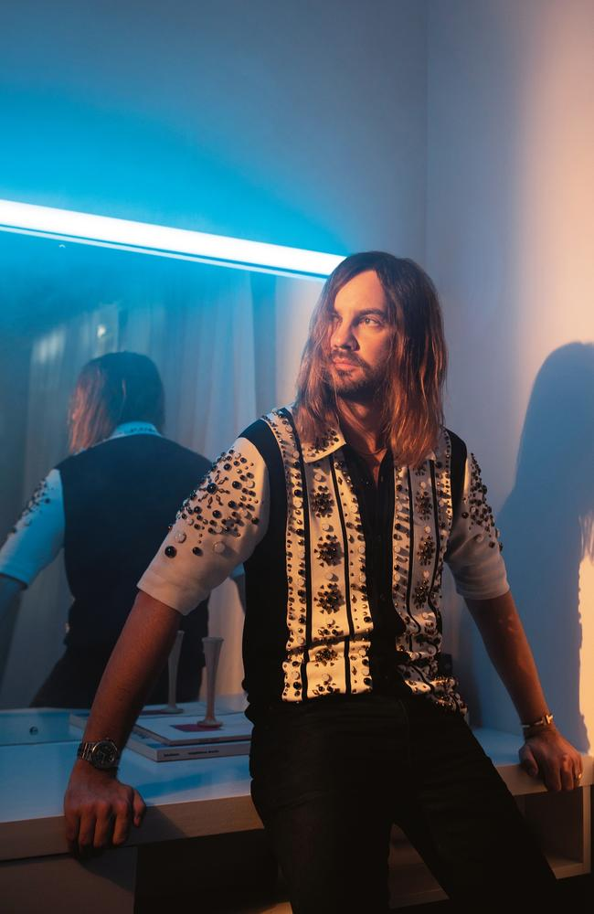 Parker releases the new Tame Impala album The Slow Rush on February 14. Picture: James J Robinson/GQ