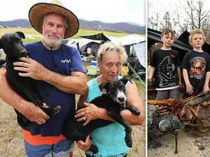 Bushfire victims left in tents for months