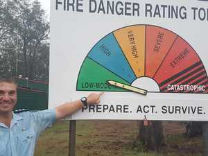 Rural fire chief all smiles as rain drops danger levels
