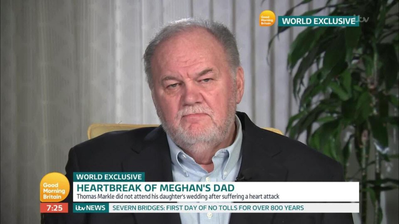 Thomas Markle was not at Meghan's wedding.