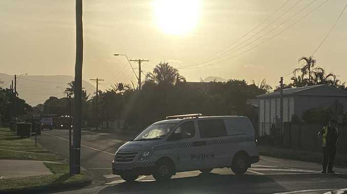 Woman run over on suburban street
