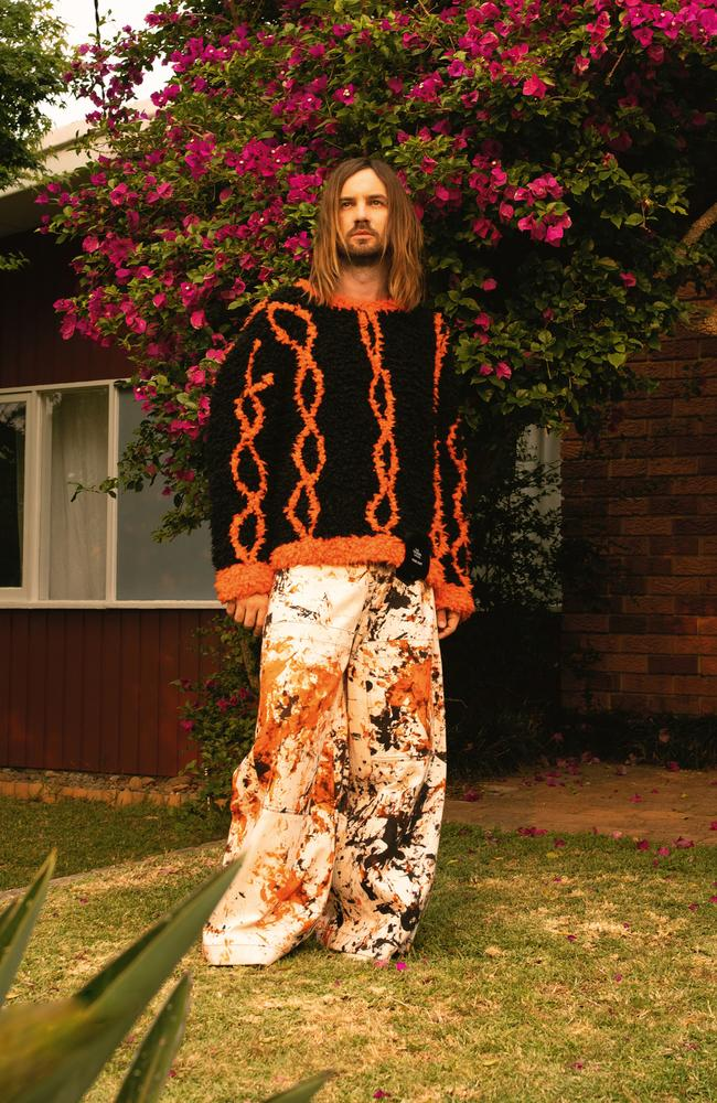 In the latest edition of GQ Australia, Kevin Parker reveals he wrestled with asking Mark Ronson for his hit song, The Less I Know The Better, back. Picture: James J Robinson/GQ