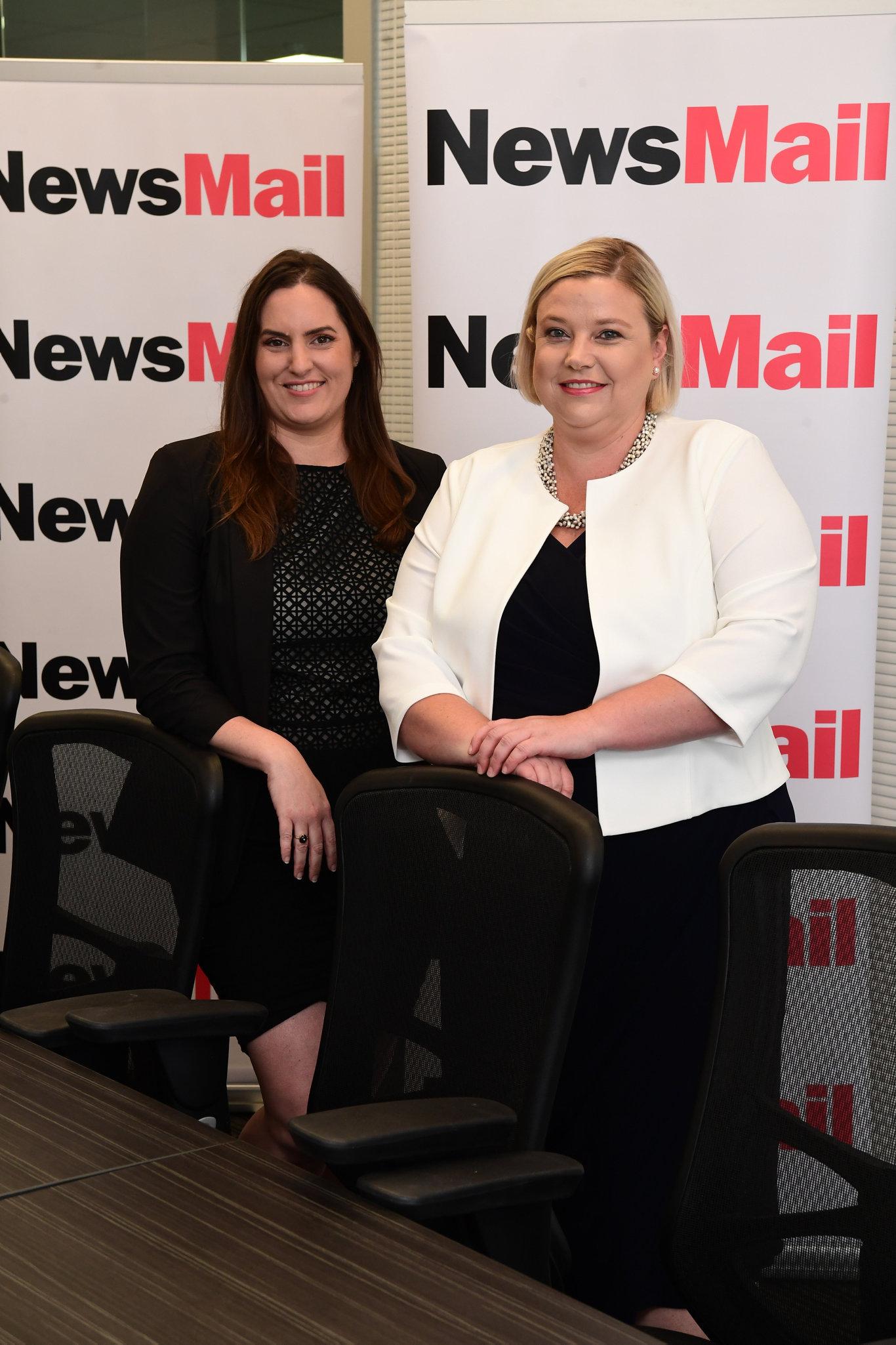 NewsMail editor Megan Sheehan and general manager Ingrid Barham.