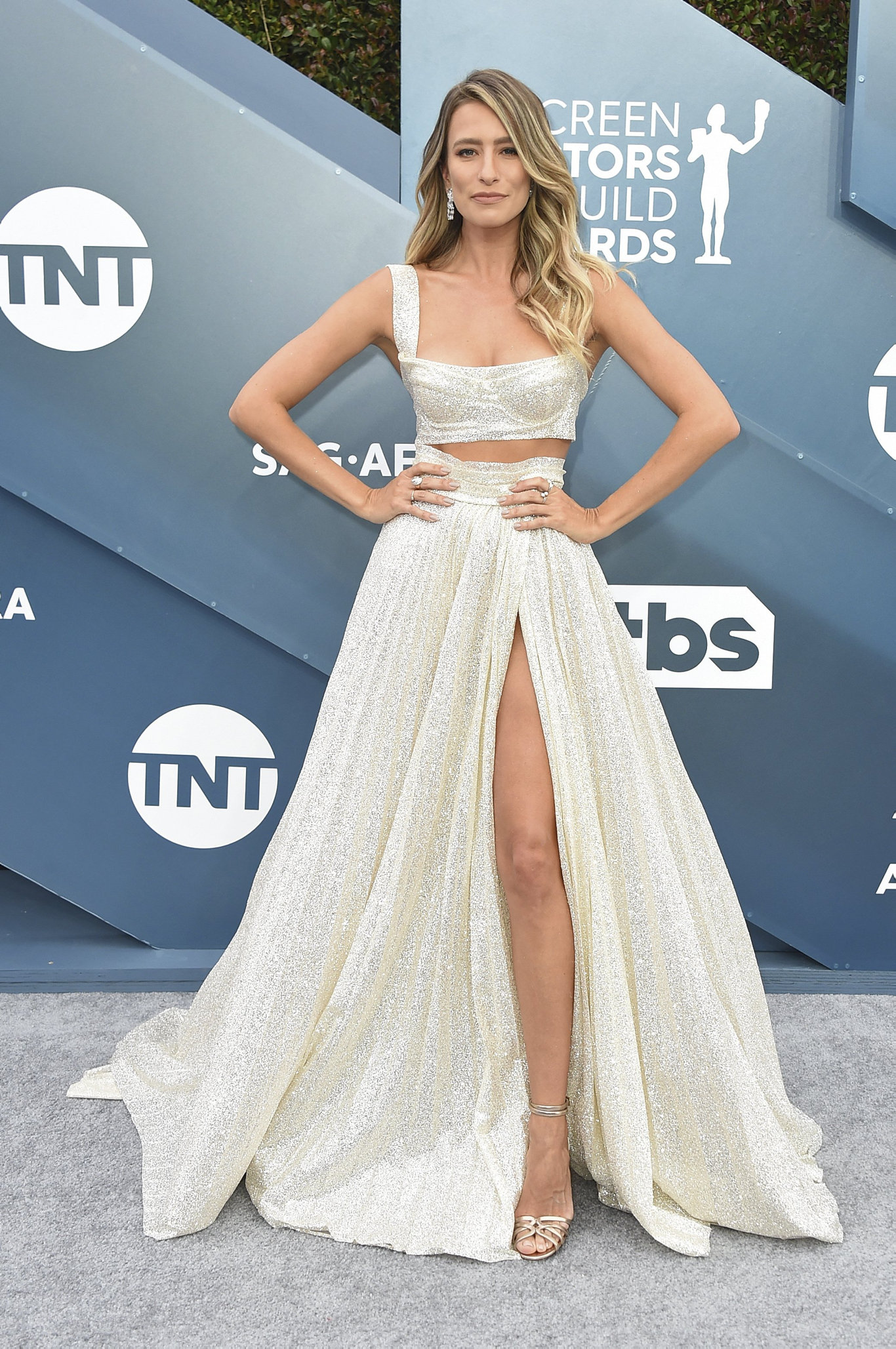 Renee Bargh arrives at the 26th annual Screen Actors Guild Awards in Los Angeles.