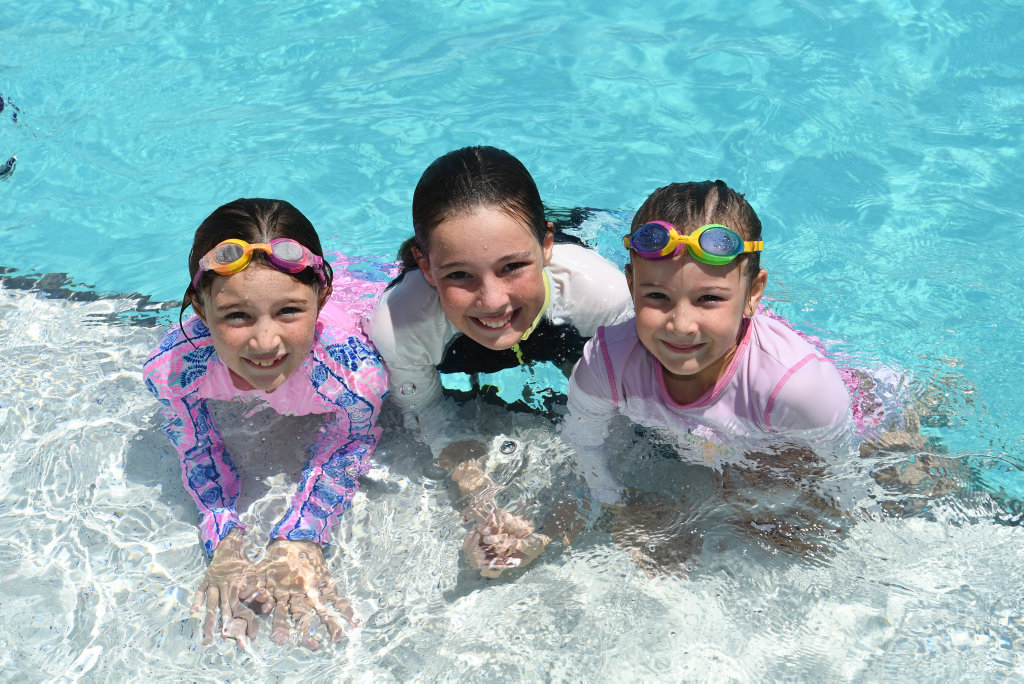 Image for sale: Madison, Paige and Bronte Martin at Yeppoon.