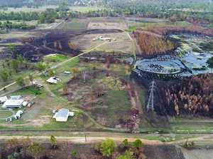 What the Bundamba fire zone looks like now.