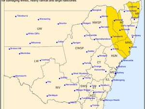 Severe storm warning issued for Northern Rivers