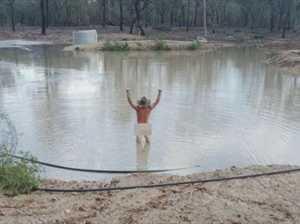 Man skinny dips on property to celebrate rain