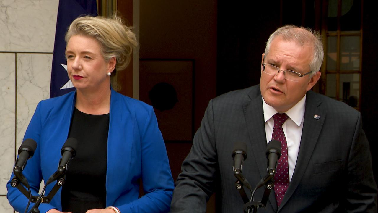 Prime Minister Scott Morrison is standing by Minister Bridget McKenzie as the sports grant scandal continues. Picture: AAP Image/Marc Tewksbury