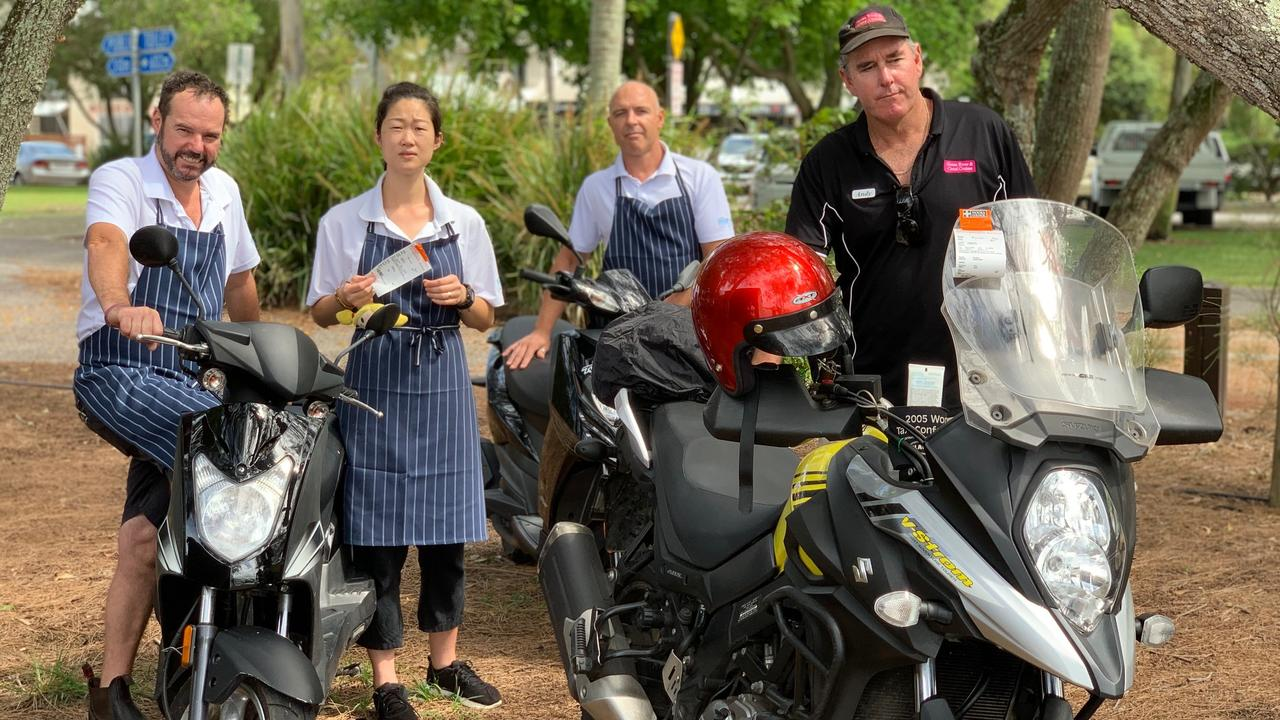 Noosa Boathouse workers copped $266 fines for parking under trees next to the Gympie Tce restaurant.