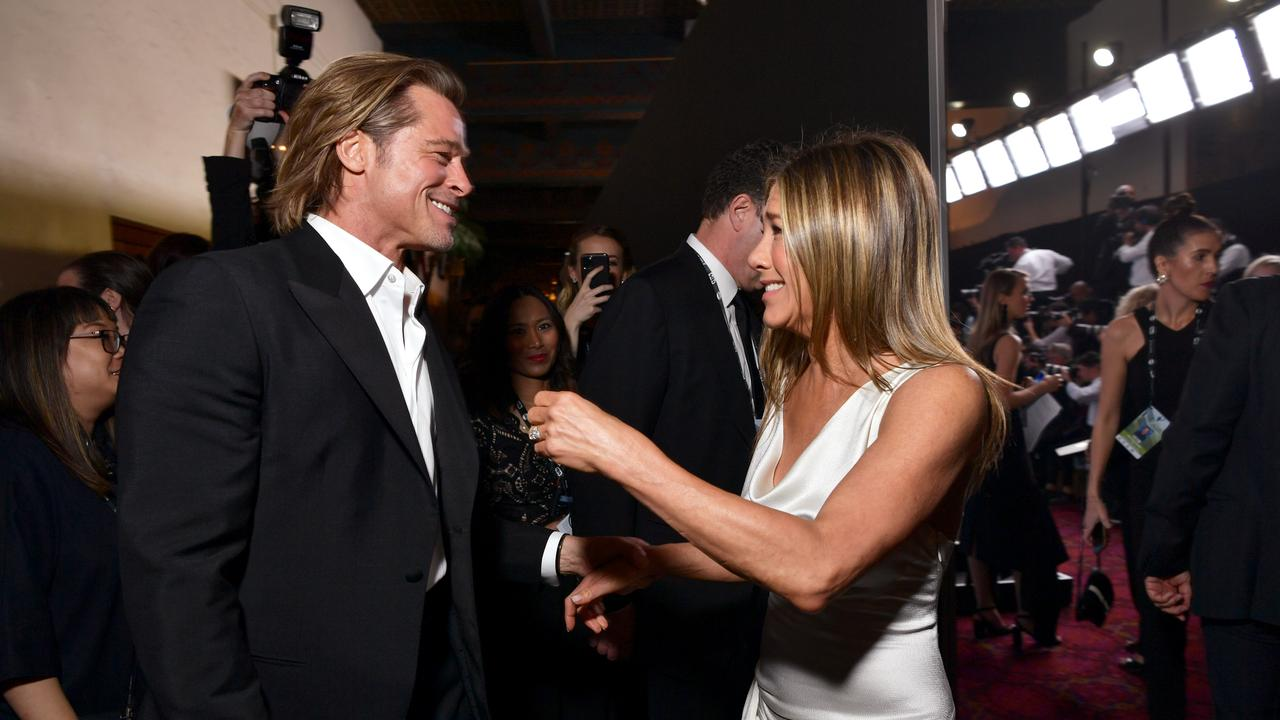 Brad Pitt and Jennifer Aniston at the SAG awards. Picture: Emma McIntyre/Getty Images for Turner