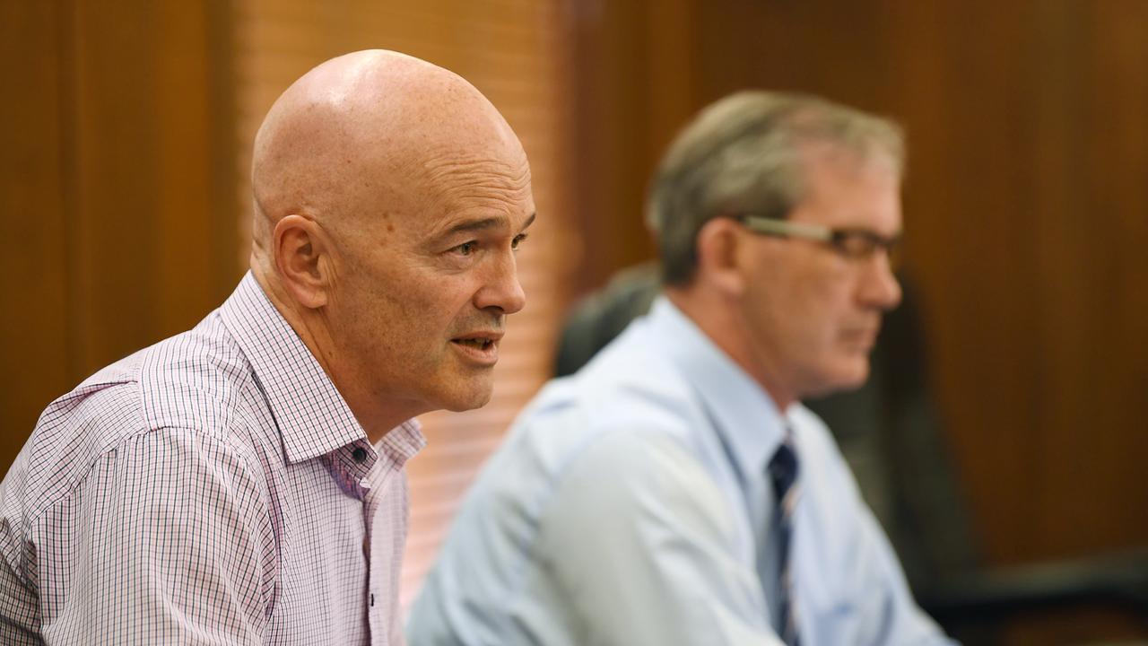 Gympie Council CEO Bernard Smith and Mayor Mick Curran.