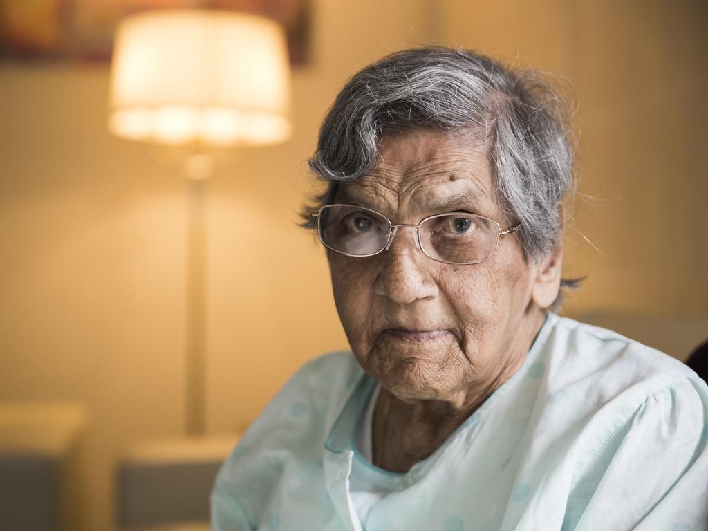 Esmerelda Rosario, 98, is facing deportation despite applying for a visa 12 year ago. Picture: Dylan Robinson