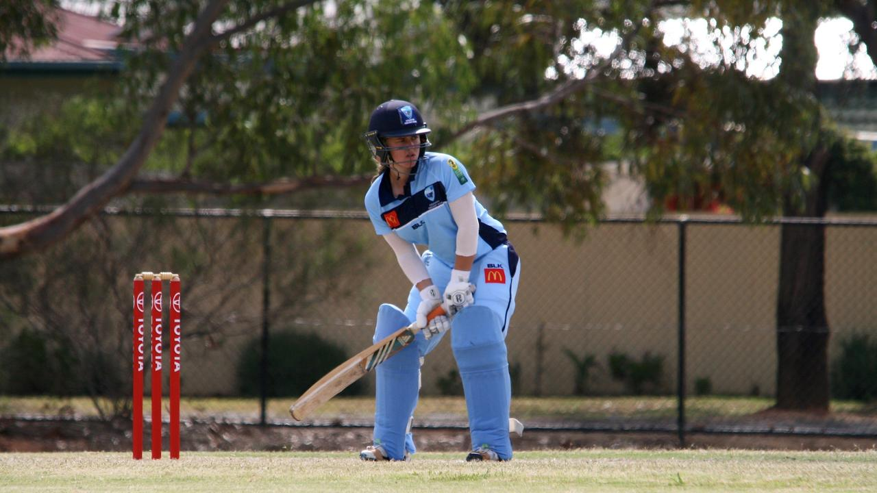Former Grafton cricket Naomi McDonald batting for the NSW Breakers Country team in last year's National Country Championships. Photo: Cricket NSW