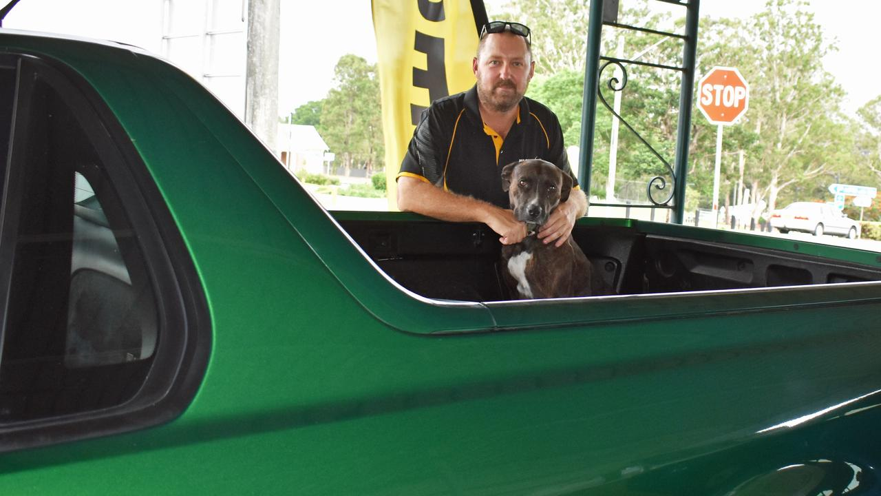 David Brims has opened a new car yard in South Casino. Pictured here with his dog Bob. Picture: SUSANNA FREYMARK