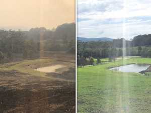 Crowe's amazing land transformation after bushfires