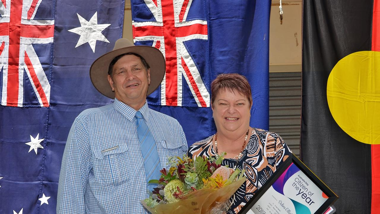 COMMUNITY FIRST: 2019 Banana Shire Citizen of the Year Debra Elliott (with Banana Shire Council Mayor Nev Ferrier) believes all the nominees for this year's awards should be proud of themselves.