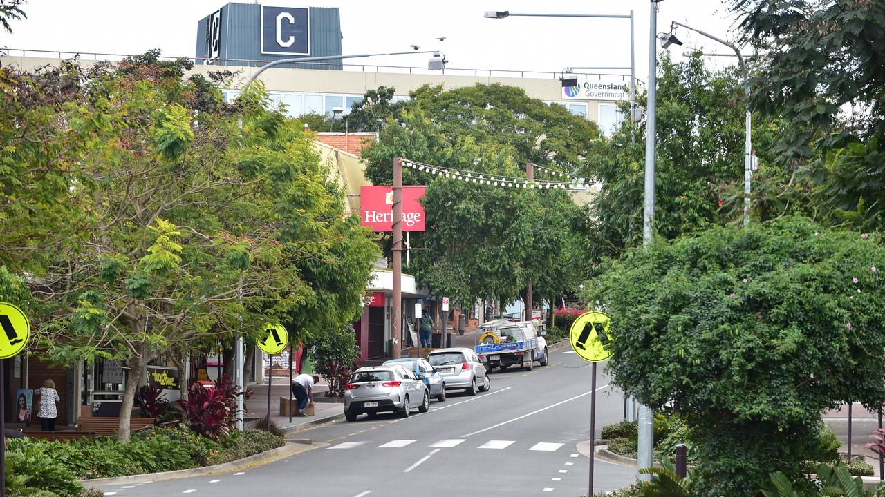 A bold plan for CBD living forms part of the future vision for the Reimagine Nambour project. Pictured is Lowe St, Nambour. Photo: Che Chapman / Sunshine Coast Daily
