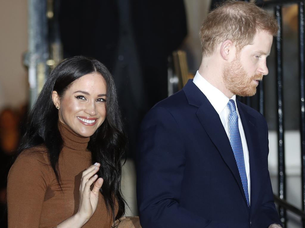 Harry and Meghan, Duchess of Sussex leave after visiting Canada House in London. Picture: AP