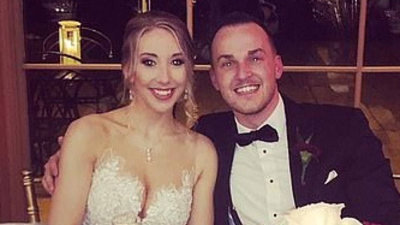 Bride 'supports' groom's wedding day affair. Picture: Supplied