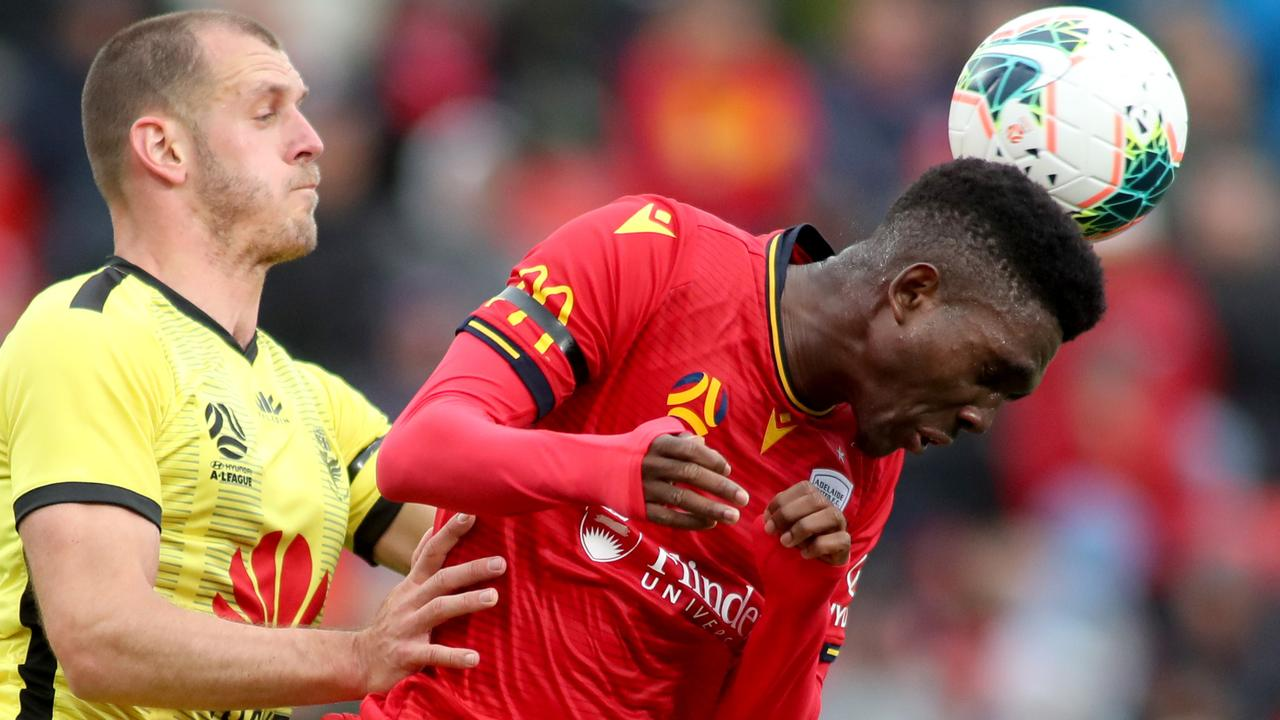 Al Hassan Toure in action for Adelaide United. Picture: AAP