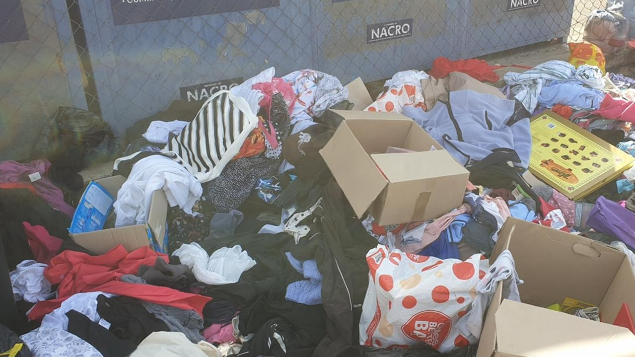 DONATIONS DUMPED: Lifeline's Shop on Campbell St, Rockhampton is struggling with substandard donations being dumped on the footpath, creating problems for the organisation.