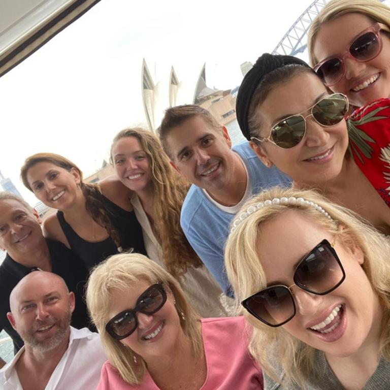 Wilson was joined by friends and cast from the musical Shrek to celebrate her mother's birthday. Picture: Instagram