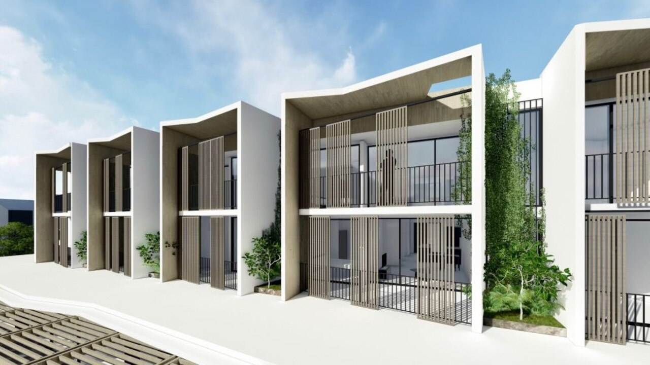 An artist's impression of shop top housing at the proposed mixed use development.