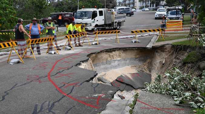 HOLEY MOLEY: Expert reveals cause of road collapse