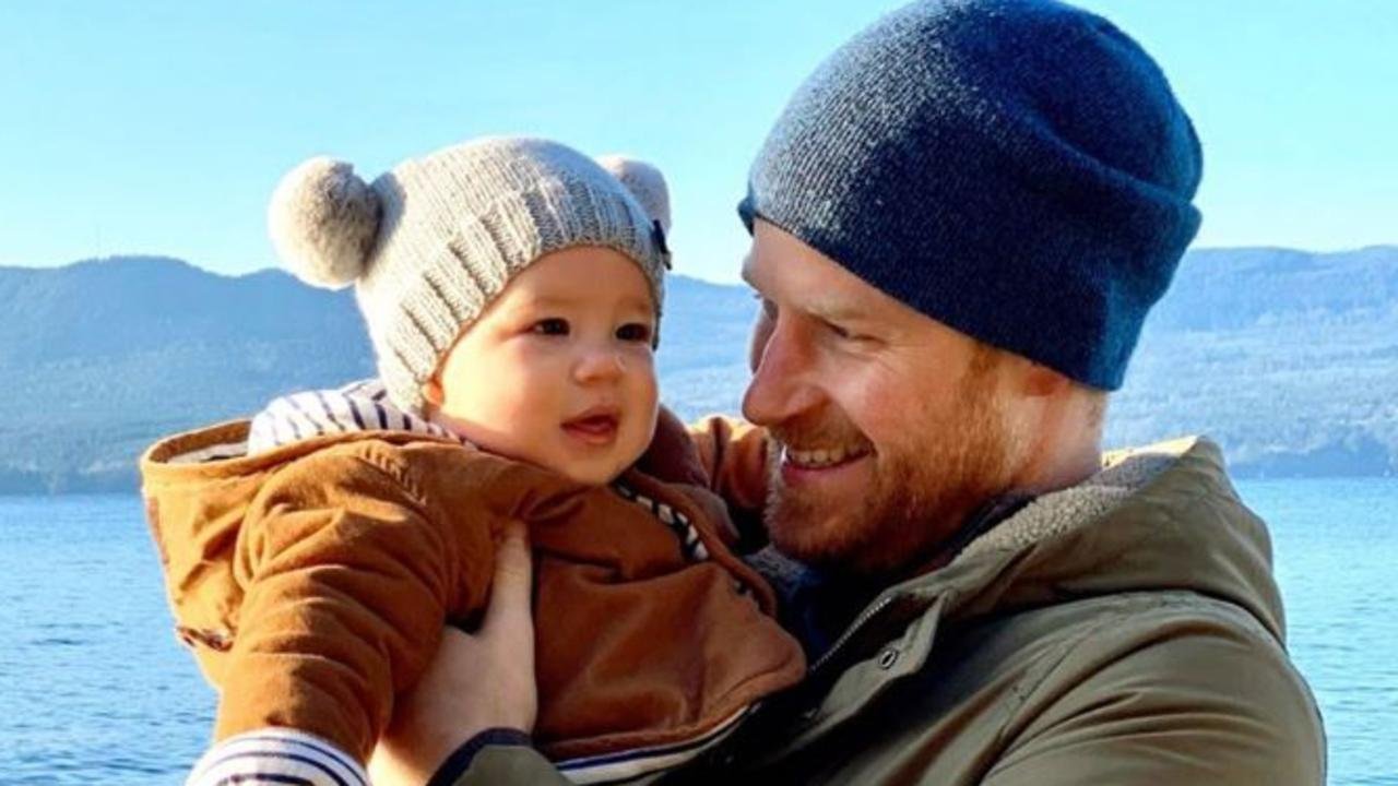 Prince Harry and baby Archie in Canada. Picture: Instagram