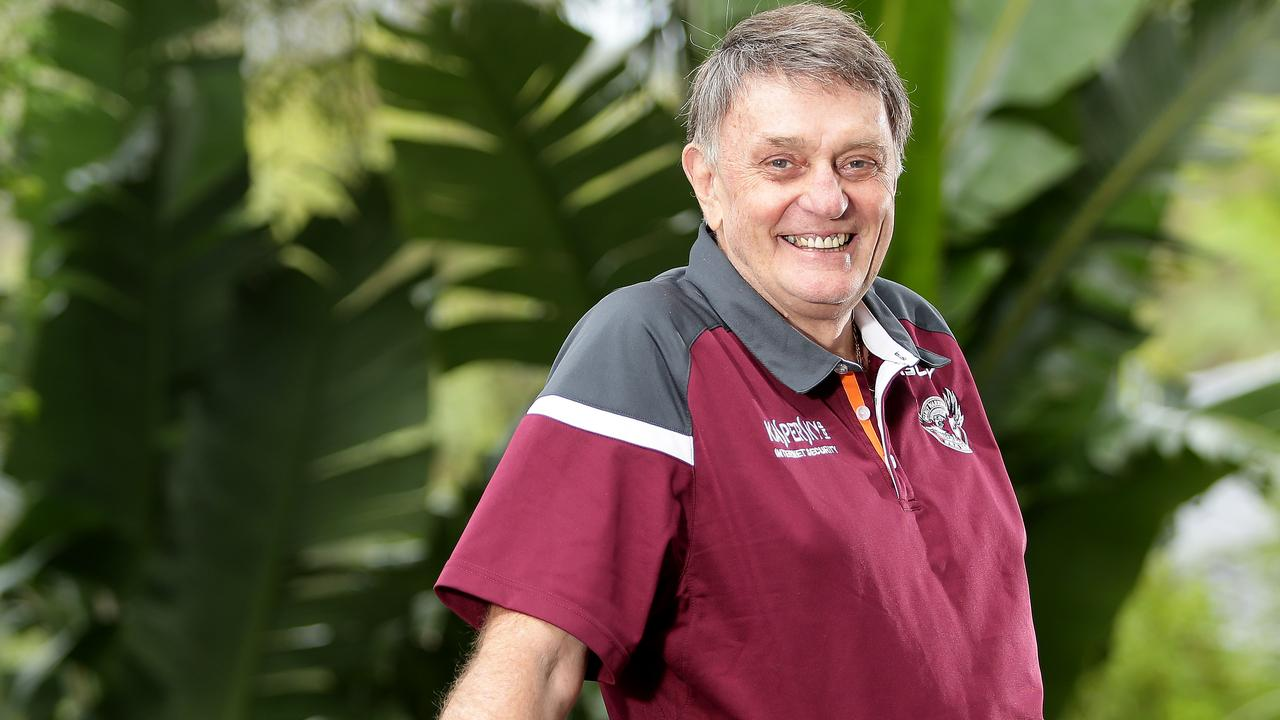 Radio legend & Sea Eagles ground announcer, Grant Goldman, at his Bayview home on Sydney's Northern Beaches. Mr Goldman died of terminal cancer on January 17, and was remembered by Nambour residents for his time with radio station, 4NA. Picture: Troy Snook