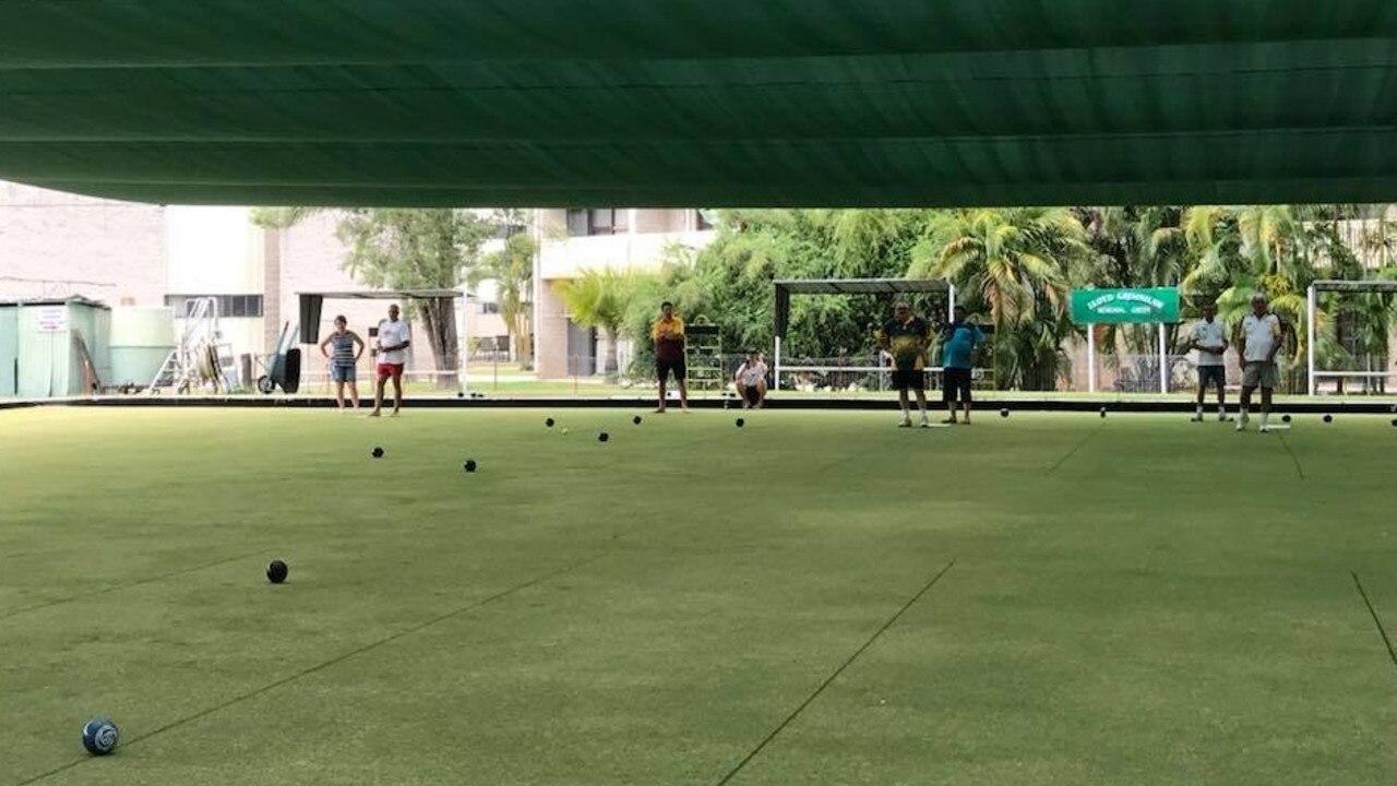 GREEN: Bowls club members practising for Australia Day.