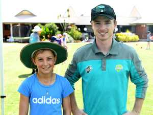 Adelaide McArthur, 10, with Queensland Crickets