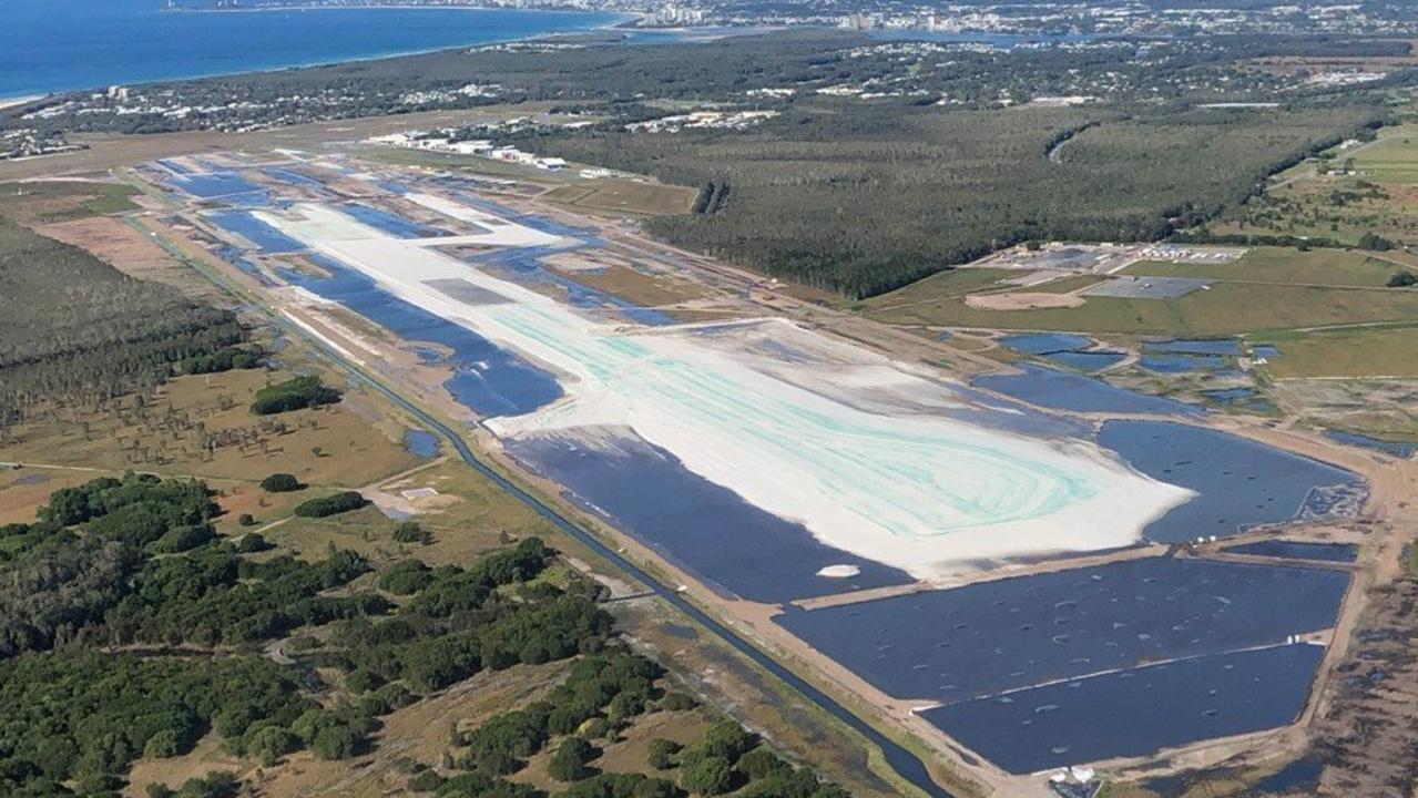 A PFAS management plan was put in place to treat contaminated ground water controlled on the Sunshine Coast Airport runway construction site. The Department of Environment and Science said it was satisfied run-off into the Maroochy River from recent heavy rain has contained only clear water.