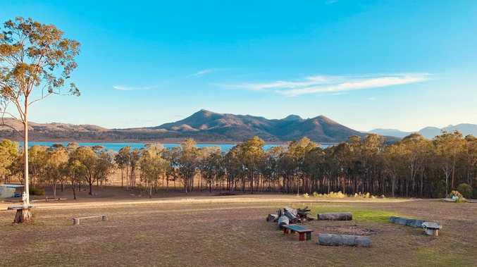 Before and after shots of drought-stricken Moogerah Dam